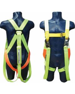 SAFETY HARNESS FULL BODY DOUBLE LANYARD H-DL SABS
