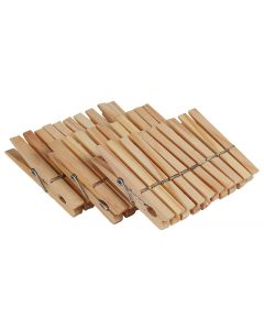 HOUSE OF YORK 2100326 WOODEN CLOTHES PEGS 30PACK