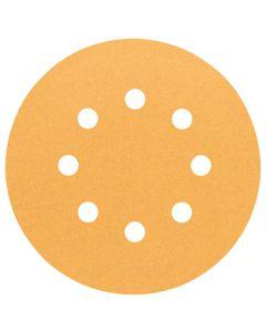 Bosch 120gr 8-Holes Wood/Paint Sanding Disc 125mm Pack Of 5