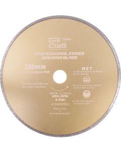 TORKCRAFT TCDB11018-2 CONTINUES RIM 180MMX22.23 DIAMOND BLADE