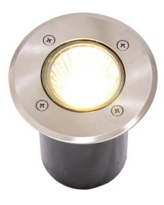 BRIGHT STAR GL6110 ROUND STAINLESS STEEL GROUND RECESSED LIGHT