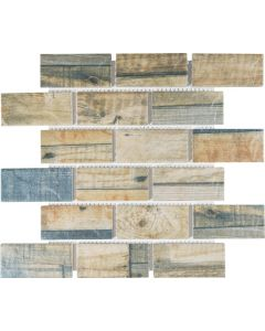 FALCON P3-FT9502 MOSAIC TILE NATURAL WOOD GRAIN MIX 45MM