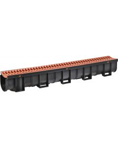 EASYDRAIN NO03501 GRATE & CHANNEL TERRACOTTA 1M