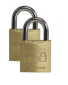 BBL PADLOCK 20MM LUGGAGE 2PACK