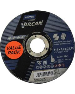 NORTON VULCAN STEEL CUTTING DISC 115MM
