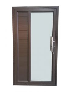 IBUILD PDVCG1221BLHIB SOLID SIDE PANEL ALUMINIUM PIVOT DOOR