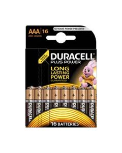 DURACELL DUR055 PLUS POWER AAA BATTERY PACK OF 16