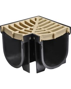 EASYDRAIN AN04811 CORNER & GRATE SAND STONE 100X100MM