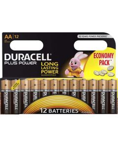 DURACELL DUR045 PLUS POWER AA BATTERY PACK OF 12