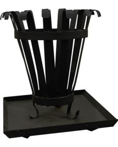 AVALON BRAZ FIREPLACE BRAZIER WITH ASHPAN