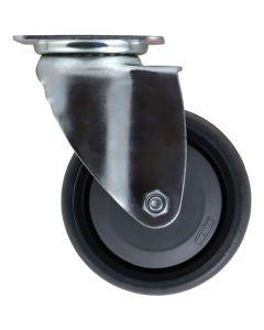 Castor&Ladder PK-N14 Rubber Swivel Plate Castor 100mm