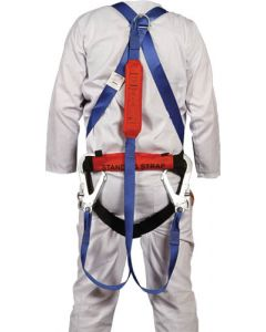 SAFETY HARNESS DBL LANYARD WITH SHOCK ABSORBER WITH WAISTBELT