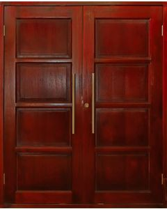 DOUBLE 4 PANEL EXTERIOR HARDWOOD DOOR 813x2032