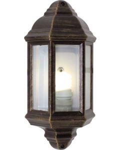 EUROLUX O24BG HALF LANTERN BEVELLED GLASS BLACK/GOLD