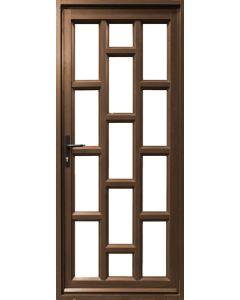 ALUMINIUM DOOR BRONZE 900X2100 FRAMED BRICK