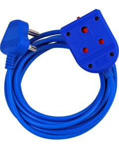ELECTRICMATE BLUE 3M EXTENSION LEAD 10AMP