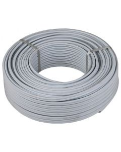 APEX WHITE FLAT TWIN&EARTH CABLE 1.5MMX50M