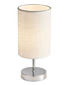 BRIGHT STAR TL632 CHROME WHITE SHADE TABLE LAMP