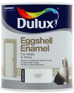 DULUX EGGSHELL ENAMEL WHITE 1L