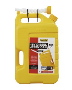 ADDIS 7439YL YELLOW DIESEL JERRY CAN 15L