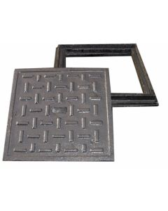 MANHOLE 265X265 COVER ONLY SINGLE SEAL LIGHT DUTY 5KG