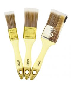 ACADEMY F1529 IVORY 3 PIECE PAINT BRUSH SET
