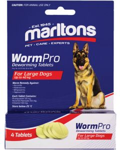 MARLTONS WORMPRO LARGE DOGS