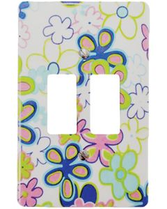 EUROLUX CT6542/260 COVER PLATE 2L 2X4 FLOWERS