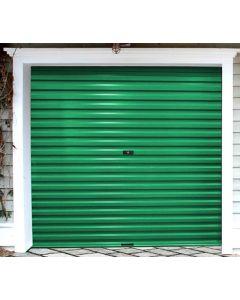 ROLL-UP SINGLE GREEN CHROMODECK GARAGE DOOR 2.4X2.1