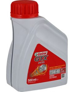 CASTROL 15W-40 GTX DIESEL ENGINE OIL 500ML