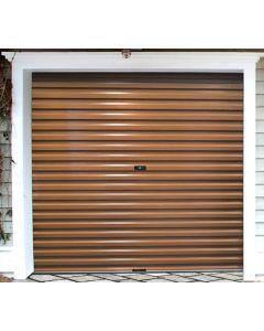ROLL-UP SINGLE BROWN CHROMODECK GARAGE DOOR 2.4X2.1