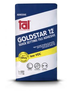 TILE ADHESIVE GOLD STAR 12-HOUR CEMENT BASED RAPID SET 20KG