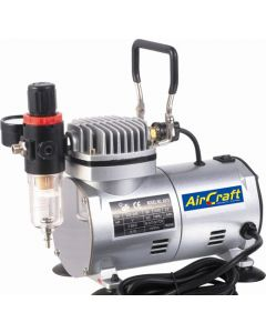 AIRCRAFT SG COMP04 COMPRESSOR FOR AIRBRUSH 1 CYLINDER WITH REGULATOR & FILTER