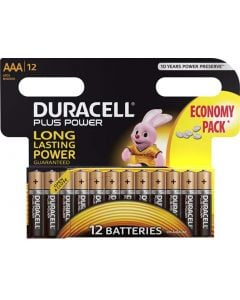 DURACELL DUR035 PLUS POWER AAA BATTERY PACK OF 12
