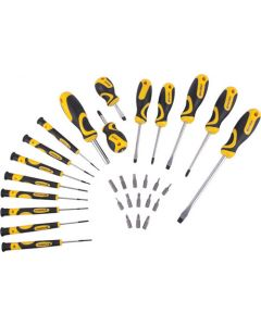 STANDARD & PRECISION SCREWDRIVER SET 30 PIECE WITH INSERT BITS