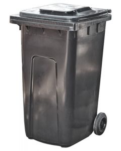 WHEELED DUSTBIN DRU013 FLIPTOP  240L BLACK