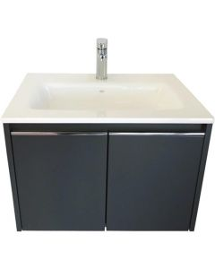 SPLASHWORKS BOCAB800CHA CHARCOAL CABINET & BASIN 800MM