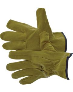 GLOVE LEATHER REINFORCED PALM C/C SPANDEX ADJ WRIST