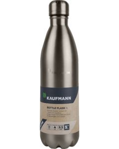 KAUFMANN 1L GREY BOTTLE FLASK