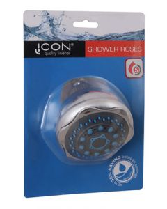 Icon SWSR5B  5-Setting Chrome and Blue Shower Rose