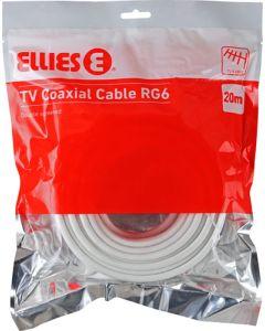 ELLIES BPAC420M TV COAXIAL CABLE RG6 20M