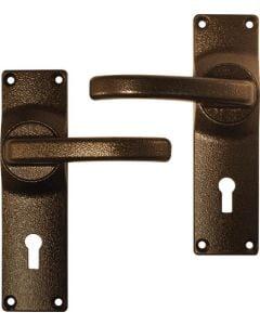 FORT KNOX HANDLE DOOR FURN ALU ANTIQUE TEXTURE