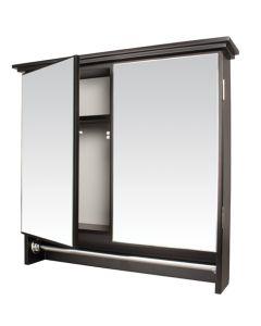 WILDBERRY ABS6022 MAHOGANY DOUBLE DOOR CABINET