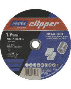 NORTON CLIPPER METAL INOX CUTTING DISC 230X1.9X22.23M 3 PACK