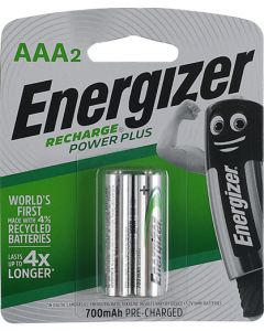 ENERGIZER RECHARGE POWERPLUS AAA 2 PACK 700Mah