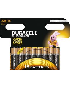 DURACELL DUR049 PLUS POWER AA BATTERY PACK OF 16