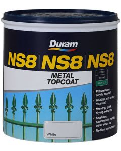 DURAM NS8 METAL TOPCOAT WHITE 1L