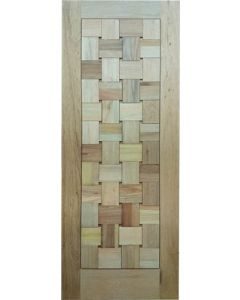 BASKET WEAVE FLAT BLOCKS 813 DOOR