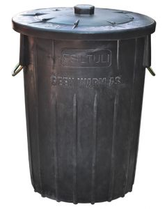 REFUSE BIN AND LID 85L METAL HANDLE