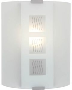 EUROLUX W167 SMALL WAVE OPAL GLASS WALL LIGHT